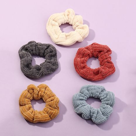 automne cheveux rayés gros intestin cercle couleur unie tricoté laine cheveux corde NHAU264643's discount tags
