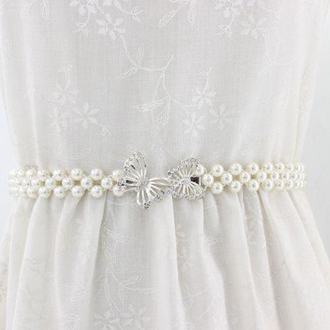 nouvelle robe élastique coréenne perle décorée chaîne de taille élastique en strass doux NHNU264649's discount tags