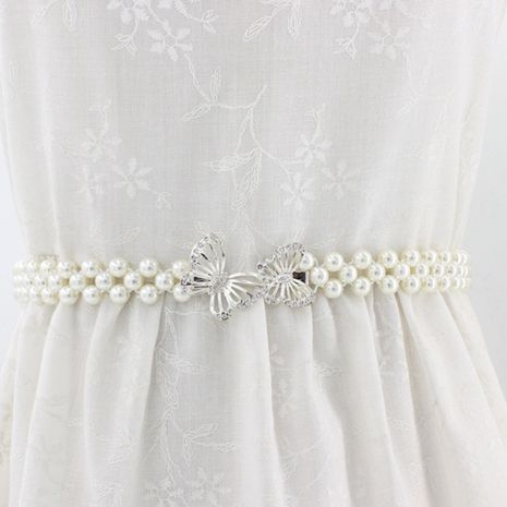 new pearl Korean elastic dress decorated elastic sweet rhinestones waist chain NHNU264649's discount tags