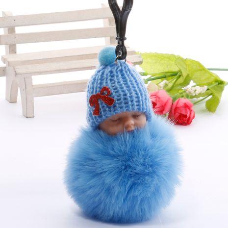 dessin animé de boule de fourrure de haute qualité dormant porte-clés de pièce de poupée mignonne NHDI264663's discount tags