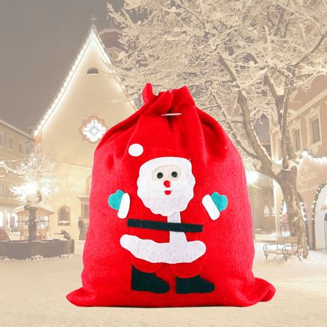Noël grand sac cadeau sac sac en tissu bonbons sac Santa grand sac à dos sac à dos sac cadeau non tissé NHQC264702's discount tags