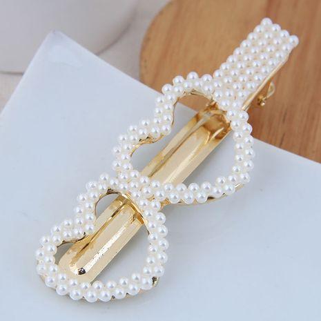 Clip latéral de perle de mode coréenne all-match simple simple clip de mot de mode de perle en épingle à cheveux NHSC254009's discount tags