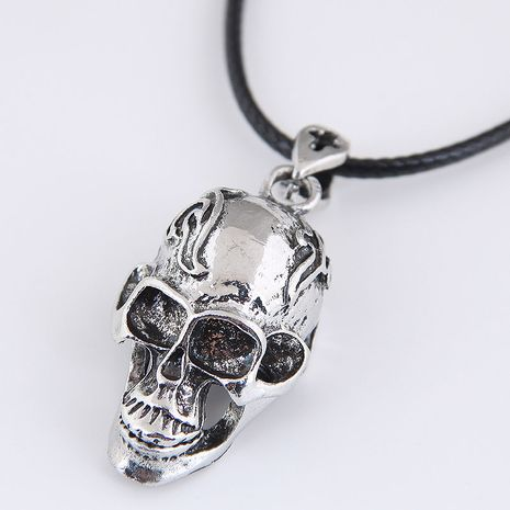 New fashion retro simple skull exaggerated alloy women's necklace NHSC254006's discount tags
