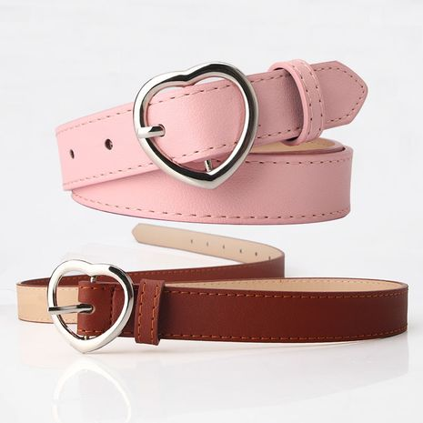 single circle ladies belt casual wild light imitation belt  NHJN253323's discount tags