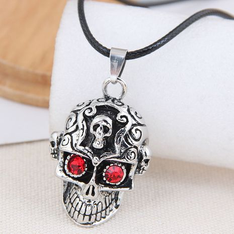 New fashion retro simple skull exaggerated alloy necklace NHSC254002's discount tags