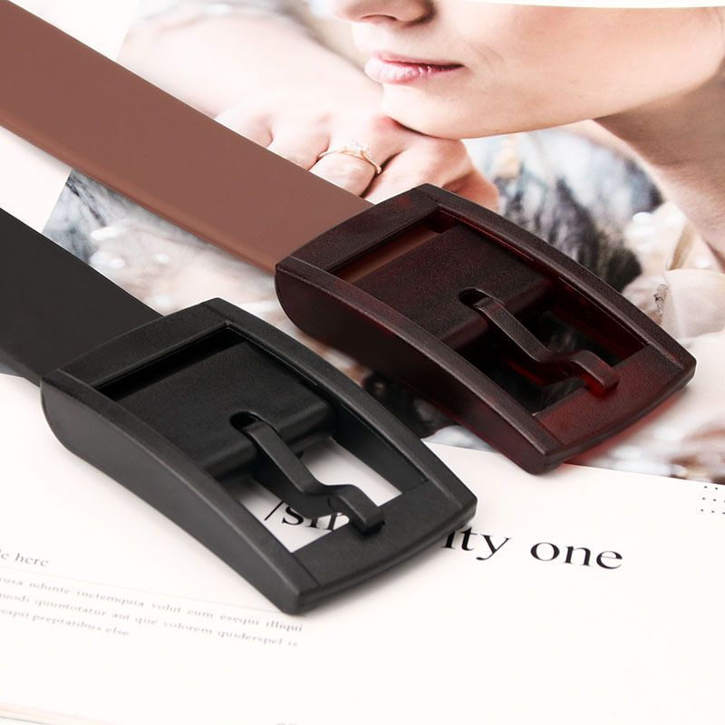 silicone frosted buckle belt casual decoration all-match jeans belt wholesale NHJN253332