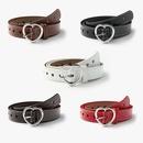 Creative  peach heart buckle belt ladies fashion love hole hollow simple decoration jeans belt NHPO253339