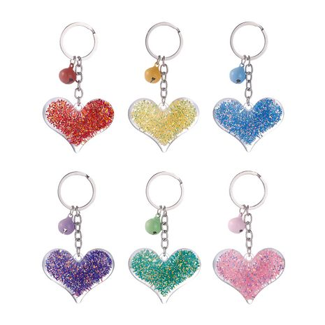 New Acrylic Love Heart Keychain Pendant Creative Small Gift Bag Pendant Accessories NHAP253353's discount tags