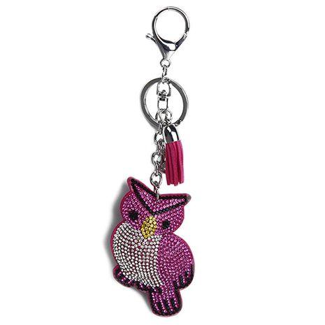 Porte-clés hibou en cachemire clouté de diamants de style nouveau NHAP253354's discount tags