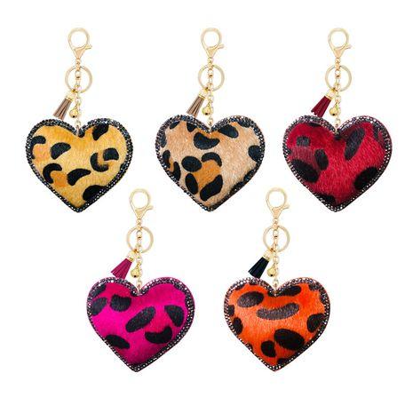 Coréen velours léopard type d'amour diamant petit cadeau porte-clés pendentif cloche gland accessoires voiture bagages ornements NHAP253360's discount tags