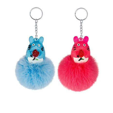 Cute Squirrel Totoro Creative Animal Ornaments keychain wholesale NHAP253367's discount tags