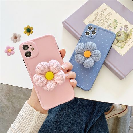 Peluche Flower Stand Shell Apple 11ProMax Mobile Shell Convient pour iphone8plus Soft Shell XR NHFI253370's discount tags