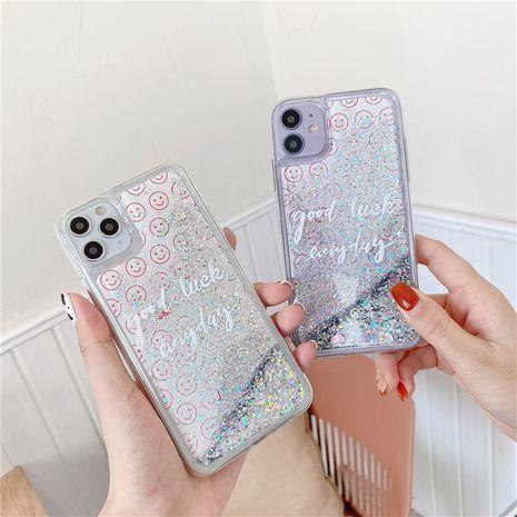 Coque de téléphone portable Smiley Quicksand plein écran personnalisée pour Apple 11Pro Max pour iPhone8plus SE2 Liquid XR NHFI253372's discount tags
