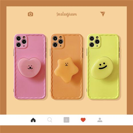 carcasa de soporte de dibujos animados de color sólido para Apple 11ProMax funda para teléfono móvil para iphone8plus XR soft shell se2 NHFI253371's discount tags