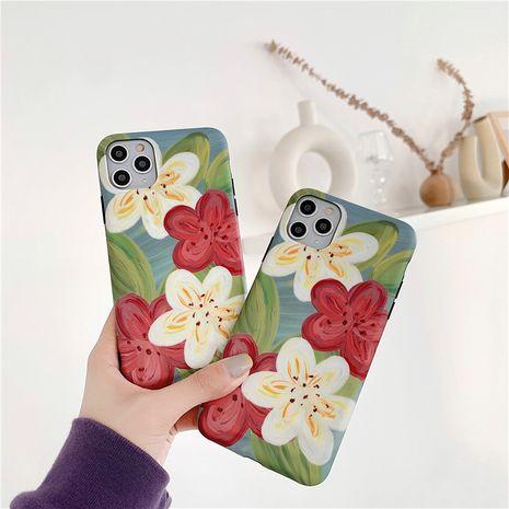Étui pour téléphone portable Apple 11Pro Max Fleurs littéraires simples pour iPhone8Plus XR Coque souple tout compris SE2 NHFI253419's discount tags
