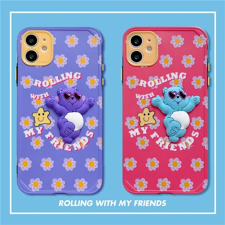 Funda protectora de dibujos animados Rainbow Bear para 11Pro / Max funda para teléfono móvil iPhone7plus Huawei P40Pro XR NHFI253423's discount tags