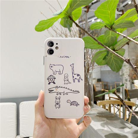 Étui pour téléphone portable mignon Zoo Apple 11Pro Max pour iPhone7 8plus XR Coque souple tout compris SE2 NHFI253425's discount tags