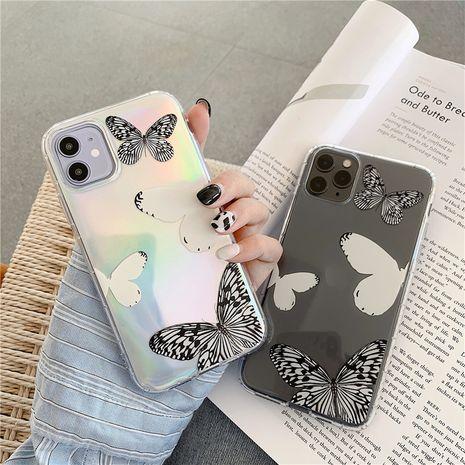 Negro blanco mariposa láser soft shell Apple 11Pro XSMAX funda para teléfono móvil para iPhoneXR se2 transparente NHFI253426's discount tags