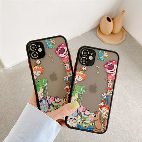 Corea del Sur linda caricatura Apple 11Pro Max funda para teléfono móvil para iPhoneXS se2 8plus funda líquida NHFI253428's discount tags