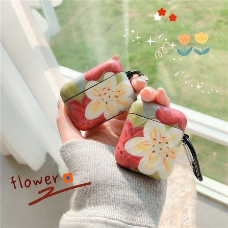 Housse de protection simple fleur blanche rouge pour casque Bluetooth sans fil Apple Airpods Pro Airpods 1 2 NHFI253429's discount tags