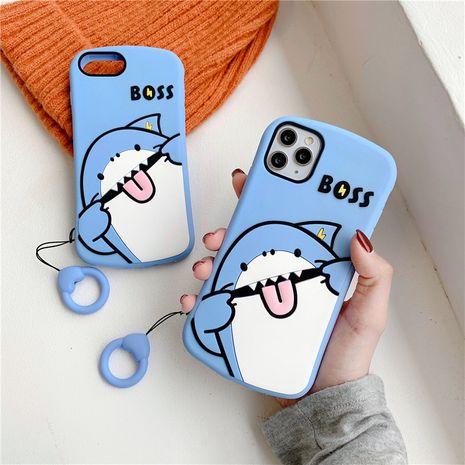 Coque de téléphone en silicone de dessin animé mignon Shark Apple 11 Promax pour iPhone8plus XR tout compris 7p NHFI253431's discount tags