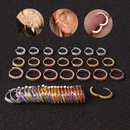 microinlaid color zircon round ear buckle creative simple cartilage earrings wholesale NHEN253446