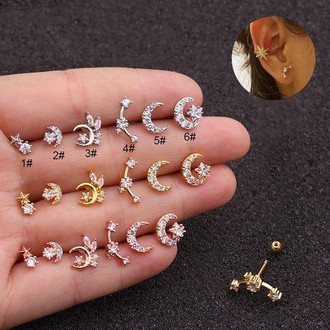 nouvelles boucles d'oreilles à vis double tête en acier inoxydable NHEN253451's discount tags