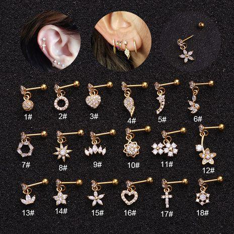 hot sale piercing new micro-inlaid zircon stainless steel ear bone earrings  NHEN253454's discount tags