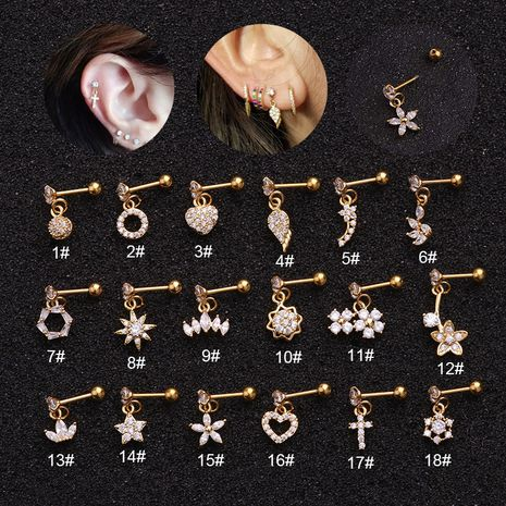 vente chaude piercing nouvelles boucles d'oreilles micro-incrustées en acier inoxydable zircon NHEN253454's discount tags