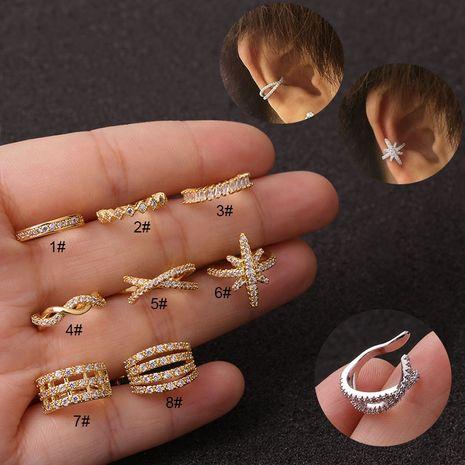 clip de oreja anti-dolor con micro incrustaciones NHEN253456's discount tags