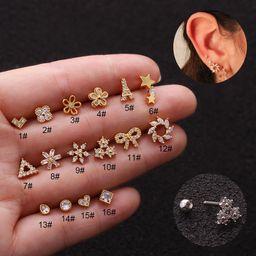 hot sale  stainless steel screw earrings  NHEN253453