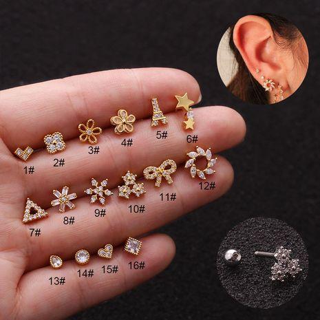 hot sale  stainless steel screw earrings  NHEN253453's discount tags