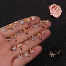 new mini cartilage creative flower earrings  NHEN253455