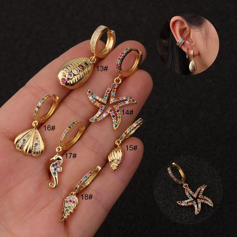 hot sale fashion exaggerated starfish earrings NHEN253457's discount tags