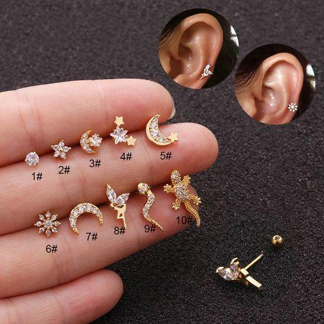 boucles d'oreilles cartilage zircon à tige fine en acier inoxydable NHEN253474's discount tags