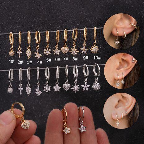 boucles d'oreilles tournesol simples micro-incrustées de zirconium NHEN253477's discount tags