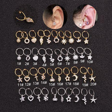 vente chaude boucles d'oreilles pendentif en acier inoxydable NHEN253478's discount tags