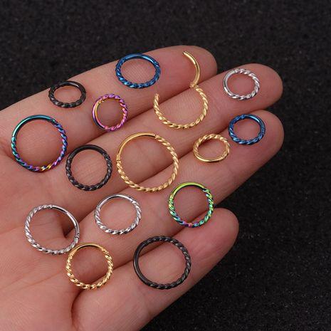 Boucles d'oreilles simples en acier inoxydable de mode en gros NHEN253479's discount tags