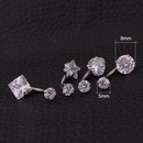 new stainless steel piercing jewelry inner teeth zircon belly nail belly button ring  NHEN253482