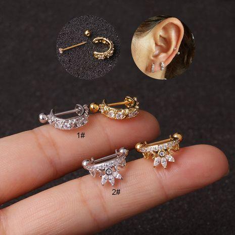nouvelles boucles d'oreilles zircon avec clip d'oreille micro-incrusté en acier inoxydable NHEN253486's discount tags