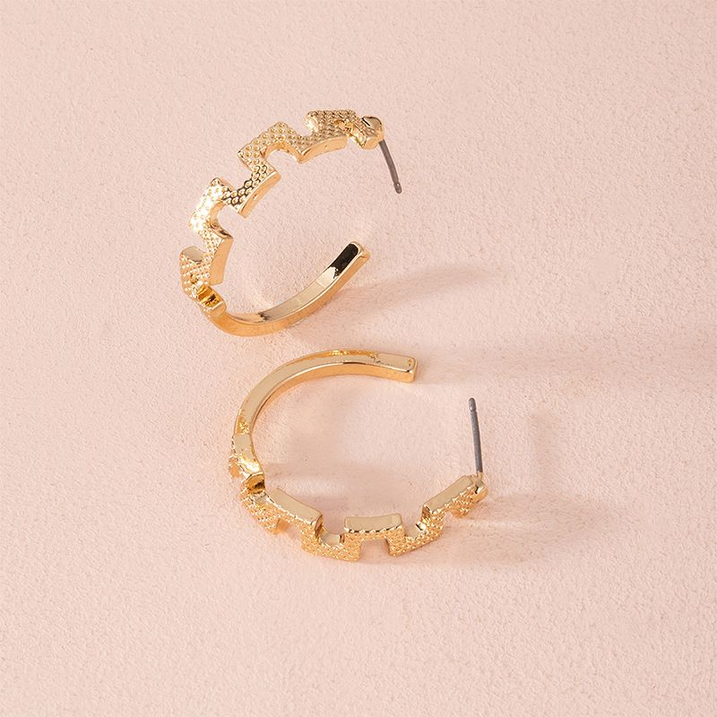 Fashion  C-shaped women's earrings wholesale NHAI253488