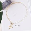 Fashion asymmetrical airplane pearl  beaded pendant womens necklace NHLA253500
