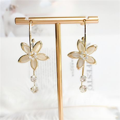 ethnic style  retro alloy flower crystal exaggerated earrings wholesale NHVA253544's discount tags