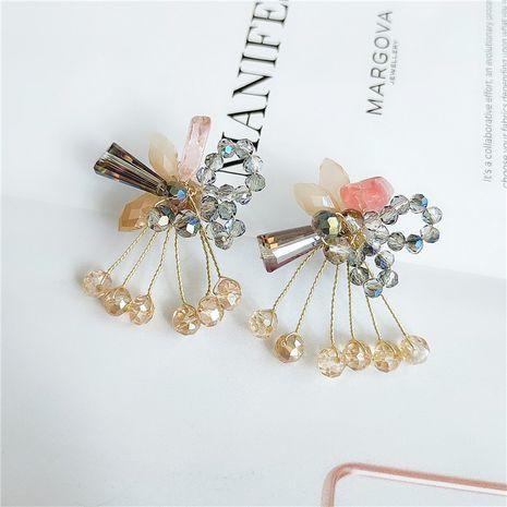Boucles d'oreilles en perles de fleurs à la mode en gros nihaojewelry NHVA253548's discount tags