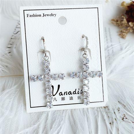 mode cristal diamant boucles d'oreilles longues fleurs en gros NHVA253553's discount tags