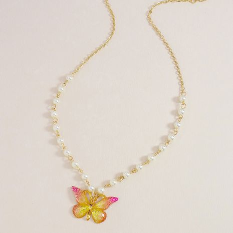 Hot selling Fashion Pearl Butterfly pendeant   Necklace NHGU253561's discount tags