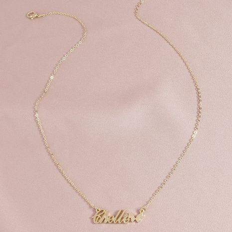 Collar de mujer colgante de elemento de letra de mariposa de moda al por mayor NHGU253572's discount tags
