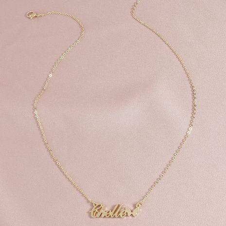 Fashion Butterfly Letter Element pendant women's necklace wholesale NHGU253572's discount tags