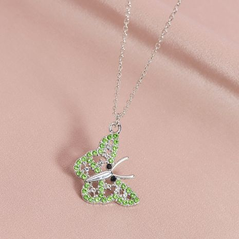 Fashion diamond-studded butterfly pendant women's necklace wholesale NHGU253573's discount tags