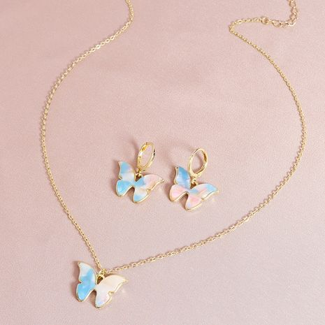 Fashion cute  pendent necklace butterfly  earrings  NHGU253574's discount tags